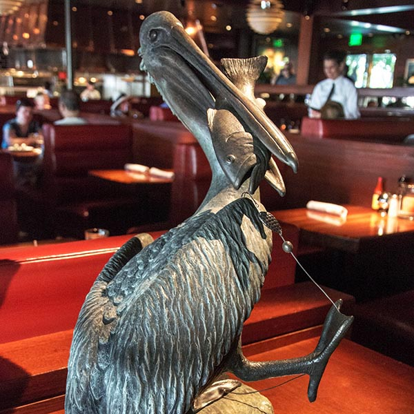 Larry Shank pelican sculpture